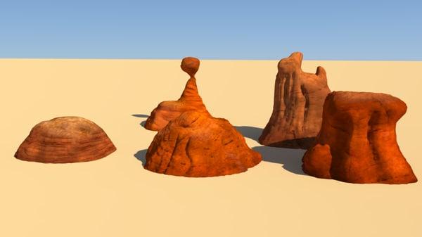 5 plateau 3d model