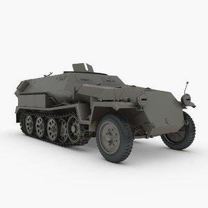 sd kfz 251 sonderkraftfahrzeug 3d max