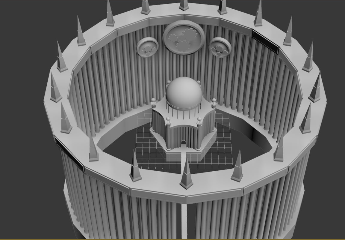 divine building city fantasy 3d max