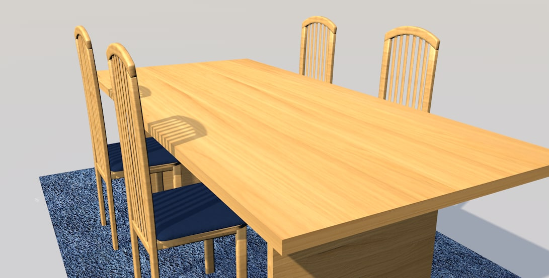 3d 3ds diner table wood