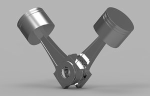 3d engine piston