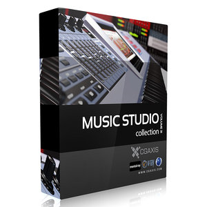 volume 31 music studio 3d max