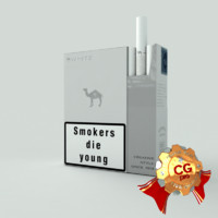 pack camel white cigarettes 3d max