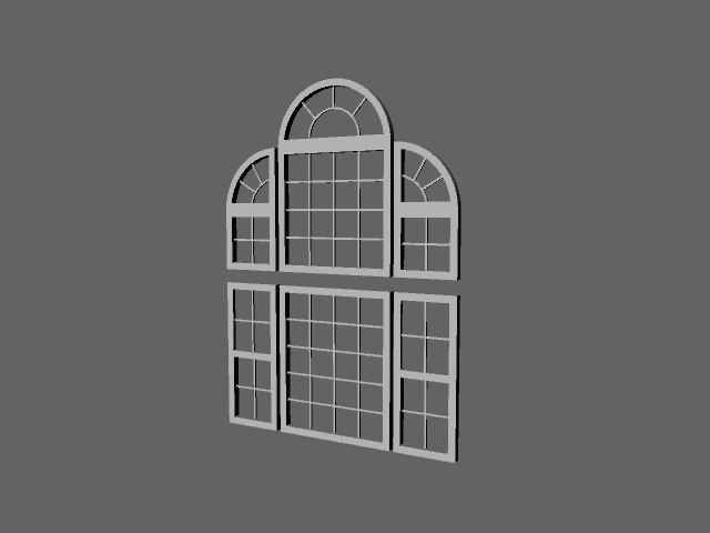 3ds max window set