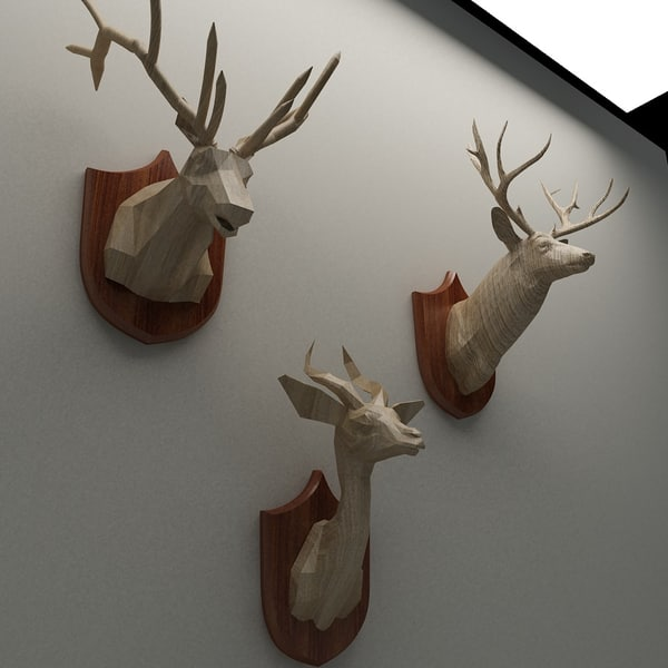 3ds max roost animal heads