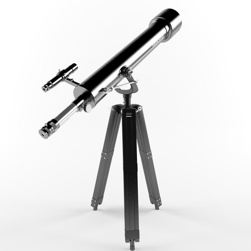 3d model tasco telescope