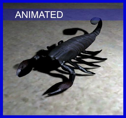 3d scorpion egyptian