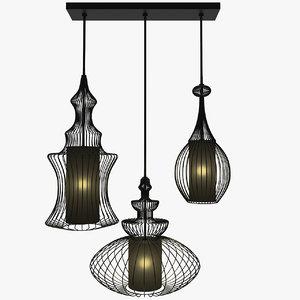 3ds max swing iron tre lamp