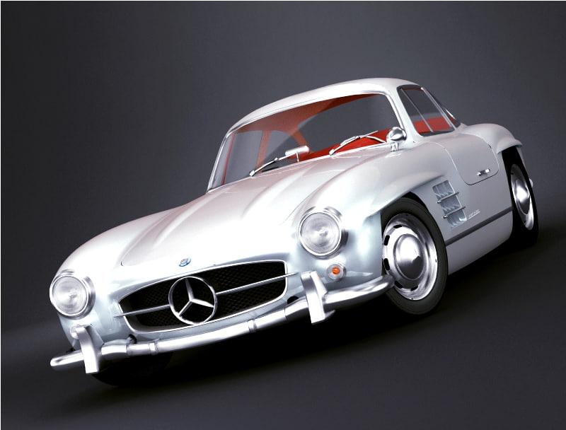 3d model mercedes-benz 300 sl
