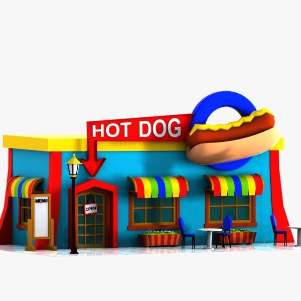 car hot dog 3d model
