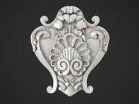 3d model decorate facades moulding