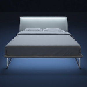 flou bed essentia-80 3d model
