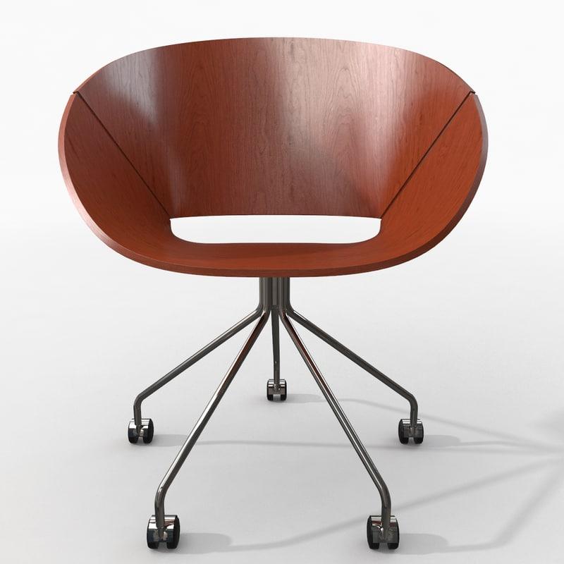 3d photorealistic lipse chair model