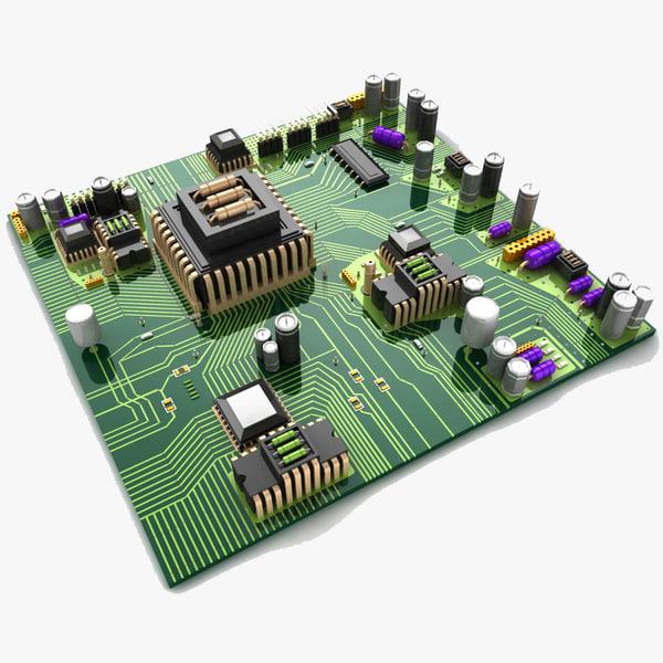 circuit board city 3d model