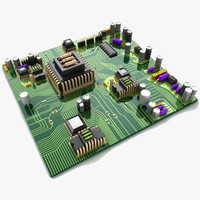 circuit board city 3d model