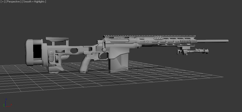 3d model msr remington rem
