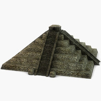 3d model ancient stone pyramid