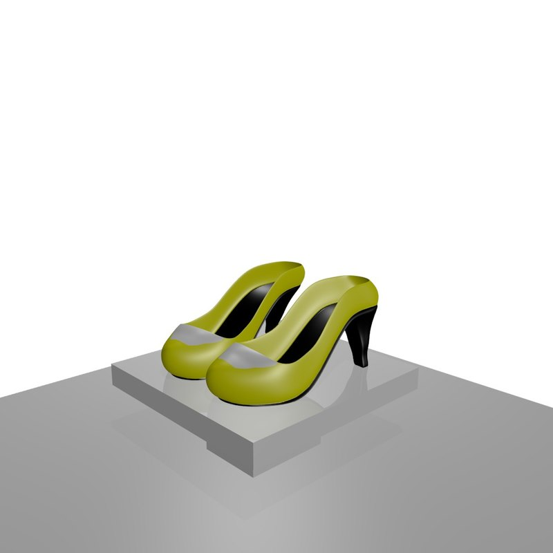 3d model of heeled shoes