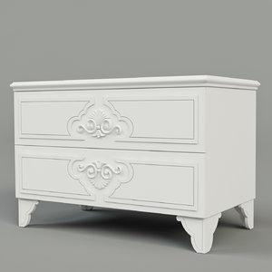 3d model bedside table morfeo
