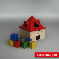 3d toy house