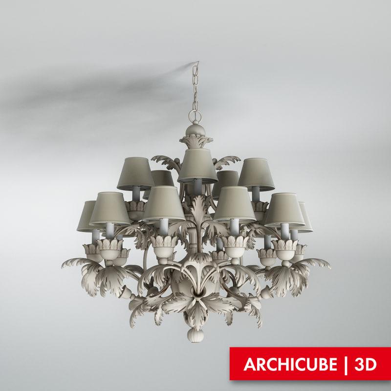 chandelier cellini 3d model