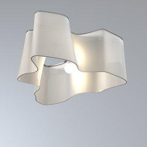 3ds max artemide ceiling lamp