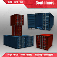 shipping containers 3d 3ds