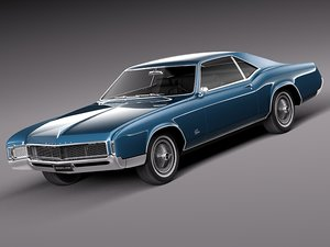 3ds 1966 antique luxury buick riviera