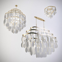 corbett lighting dolce chandelier 3d model