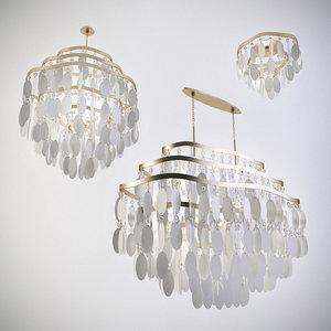 corbett lighting dolce chandelier 3d model