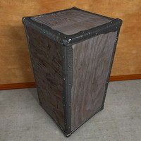 Wooden Tea Box Crate Vintage Iron Edges