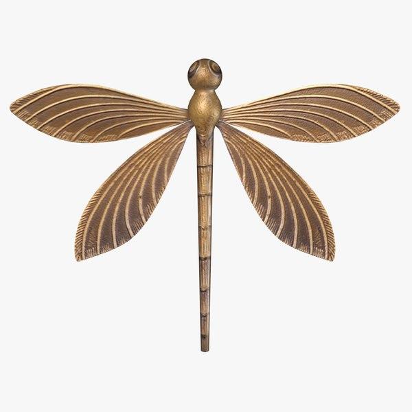 3d model wall dragonfly fg