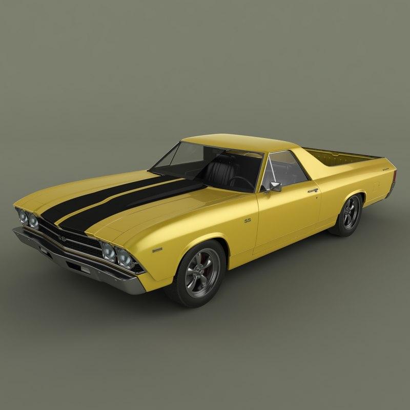 1969 chevrolet el camino 3d 3ds