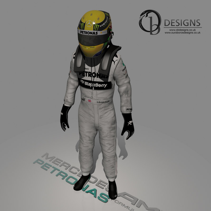 3d model formula lewis hamilton 2013