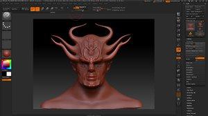 3d model demon man face