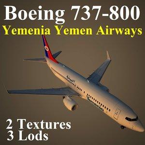 boeing 737-800 iye 3d model
