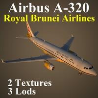 3d airbus airlines rba model