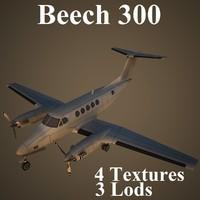 3d beech 300 super model