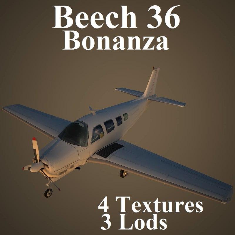 beech 36 3d model