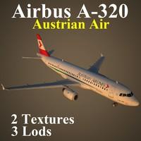 airbus aua 3d max