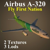 3d airbus frn model