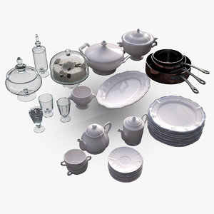 3d kitchen pans