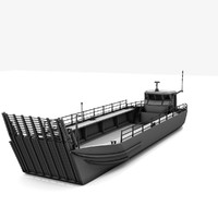 generic military transport landing craft 3d model