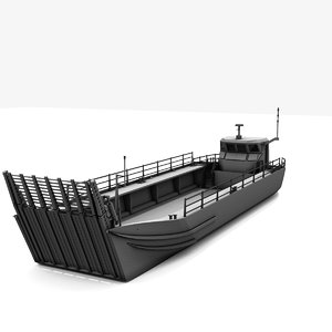 generic military transport landing craft 3d model