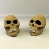3d c4d skulls