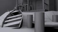 swamp shack 3d model