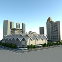 3d max singapore suntec city building