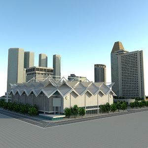 3d max singapore suntec city building