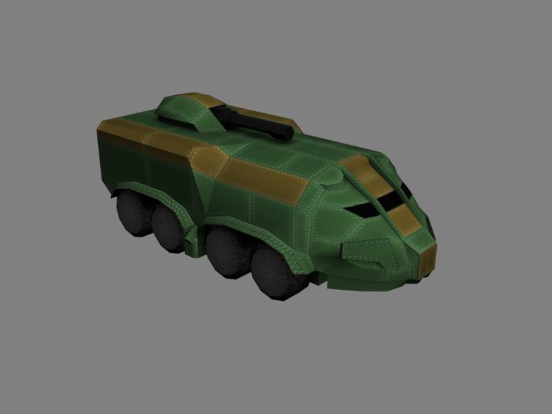 3d model scifi transport