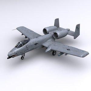 3d model a-10 thunderbolt ii a-10c